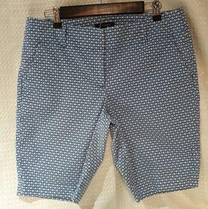 Ann Taylor shorts, blue/white print, size 10